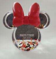 NWT Disney Parks MINNIE MOUSE BOW Confetti Snowglobe Photo Picture Frame