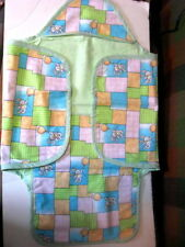 """Handcrafted Bunny Baby Wrap Blanket Made in USA Crafter 29.5"""" X 13"""""""