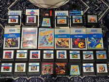 ATARI 5200 Video Game Lot Collection 22 Cartridges Q Bert Pac Man Qix Dig Dug