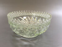 Antique Edwardian clear pressed glass salad or fruit bowl 1900's 1910's