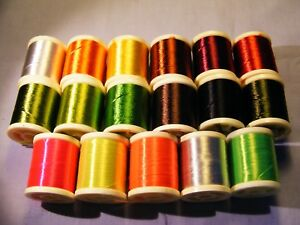 Assorted Spools Fly Tying Body Floss, Choose Colour / Pack, pay one post only