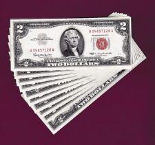 Fr.1513  $2 1963 LEGAL TENDER UNITED STATES NOTES A 04857128 A 10 RUN SUPERB GEM