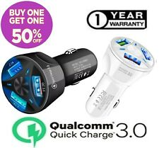3 Port USB QC 3.0 Fast Car Charger for Samsung iPhone LG Google Moto Cell Phone