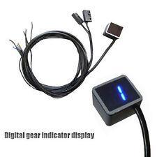 12V LED Digital Gear Indicator Motorcycle Display Shift Lever Sensor Blue Lights