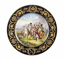 """Eight French 19th Century Cabinet Plates with Emperor Napoleon by """"Sevres"""""""