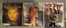 ROLLING STONE Magazine Lot of (3) Sting The Police 1988 1991 2007