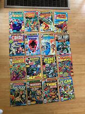 16 Bronze Age Marvel Comic Books 1973-77-Spider-Man,Shanna ,Capt. Marvel,Avengers