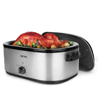 22 Qt Turkey Roaster Oven Bake Home Kitchen Countertop Electric Cooker St Steel photo