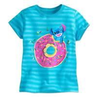 Disney Store Authentic Girls Lilo & Stitch Striped T Shirt Tee Size 4 New