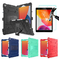 For iPad 8th Generation,10.2'' (2020) Case Cover With Kickstand+Screen Protector