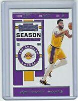 2019-20 Panini Contenders Basketball Base #7 Anthony Davis Los Angeles Lakers
