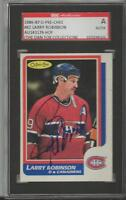Larry Robinson 1986 OPC Autograph #62 SGC Canadiens