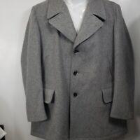 Vintage Robert Lewis wool coat. Gray 46L