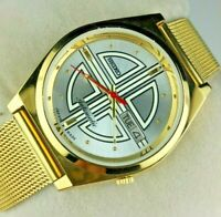 VINTAGE SEIKO 5 CLASSIC GOLDEN CASE MENS AUTOMATIC JAPAN WORKING WRIST WATCH MN/