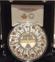 2018 Puzzle Coin Connecting Canadian History 14Piece Silver Parliament 1866-1916