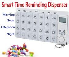 28 Grid Smart Electronic Pill Box Alarm Medicine Dispenser Time Reminder Case