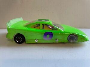 VINTAGE 1/24 CUSTOM NASCAR STOCK CAR SLOT CAR #0 PARMA CHASSIS PSE MOTOR