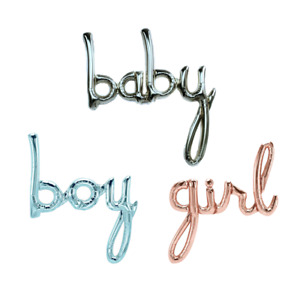 Baby Girl Boy Script Word Baby Shower Arrival Party Decoration Foil Balloon