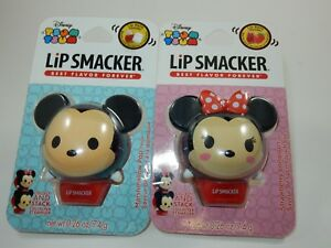 Disney Tsum Tsum Lip Smacker Lot Minnie & Mickey Mouse  NEW