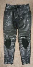 Belstaff Black Leather Motorcycle Trousers Size UK 40 Free P&P