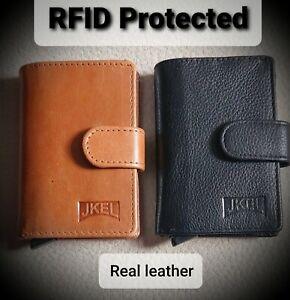 JKEL Card Wallet With Sliding Card Mechanism RFID Protected - Slim fit