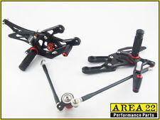 2003-2006 Honda CBR600RR Area 22 Adjustable Rear Sets Footpegs Black Rearsets