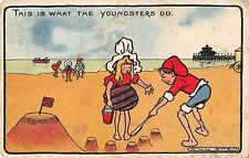POSTCARD  COMIC   This is  what  the youngsters  do         WILL  OWEN