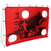 3-In-1 Target Shoot 7Ft X 5Ft Sturdy Steel Frame Football Goal and Net Portable