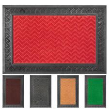 OLIVO.shop - GRECA Zerbino ingresso rettangolare gomma inciso assorbente 40x60cm