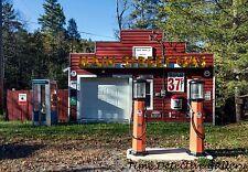 Main Street Gas Station, Pocahantas County, West Virginia - Giclee Photo Print