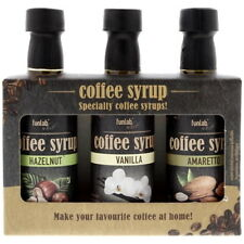 Gift Set Coffee Syrup :: Amaretto, Hazelnut and Vanilla