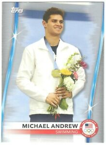 2020 2021 Topps Olympics MICHAEL ANDREW Silver Parallel Team USA US #25 Swimming