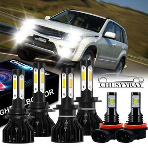 For Suzuki Grand Vitara 2006-2013 Combo Kit 9005 H7 LED Headlight H11 Fog Light