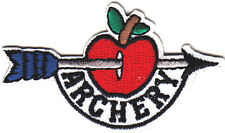 """""""ARCHERY"""" w/APPLE - SPORTS - GAMES - COMPETITION - IRON ON EMBROIDERED PATCH"""