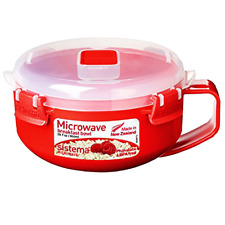 Sistema Microwave Breakfast Bowl, 850 ml - Red/Clear