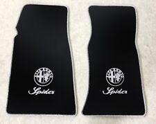 Autoteppich Fußmatten für Alfa Romeo Spider Fastback 1969-1983 silber Neu 2tlg.