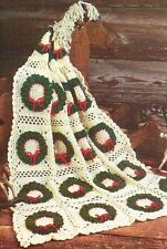 HOLIDAY DELIGHT AFGHAN CHRISTMAS WREATH DIGEST SIZE CROCHET PATTERN INSTRUCTIONS