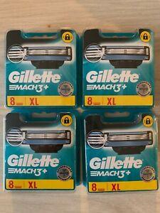 4 packs - Lames De Rasoir Gillette Mach3+ XL 8 Recharges soit 32 lames de rasoir