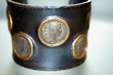 Armreif mit orig Römischen Münzen  Silber 925  signiert 900 Gold Unikat