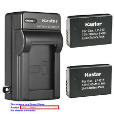 Kastar Battery AC Wall Charger for LPE17 Canon EOS RP Mirrorless Digital Camera