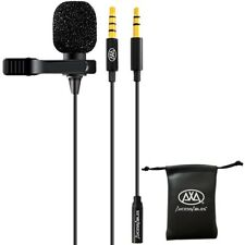 AxcessAbles LAV-C Lavalier Lapel Condenser Clip-On Microphone for PC & Mobiles