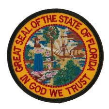"""FLORIDA STATE SEAL EMBROIDERED PATCH 3""""  -  NEW"""