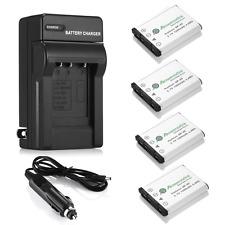 4x 1200mAh NP-45 NP-45A Battery + Charger for Fujifilm FinePix XP50 XP60 XP70