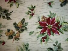 "1 YARD   LONGABERGER  HOLIDAY BOTANICAL FABRIC  60"" WIDE- NEW!"