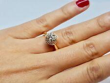 Bague de fiançailles en Or jaune 18 carats Diamants 1.50 carat 7.30 grammes