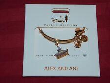 Disney Parks ALEX & ANI Bracelet King Arthur Houses Carousel Rose Gold Tone New