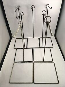 "12"" Metal Display Stands Set of 7 Table Top Free Standing Retail Display Hooks"