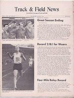1958 Track and Field News European Report NCAA Champions Dan Waern Sweden WR