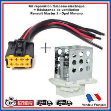 Faisceau électrique + résistance 7701057557 Renault Master 2 de 1998 à 2010