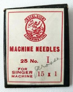 Antique EXCELSIOR TORRINGTON SINGER Sewing Machine Needles No. 1 Pack